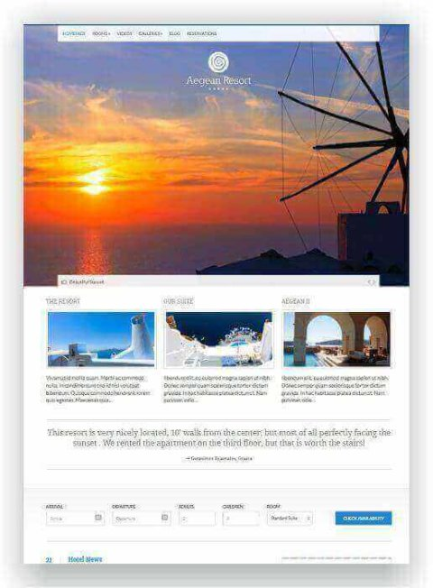 WordPress Hotel Ressort Thema