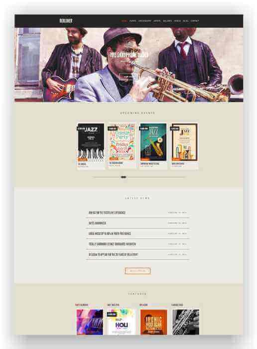 Website für Solokünstler