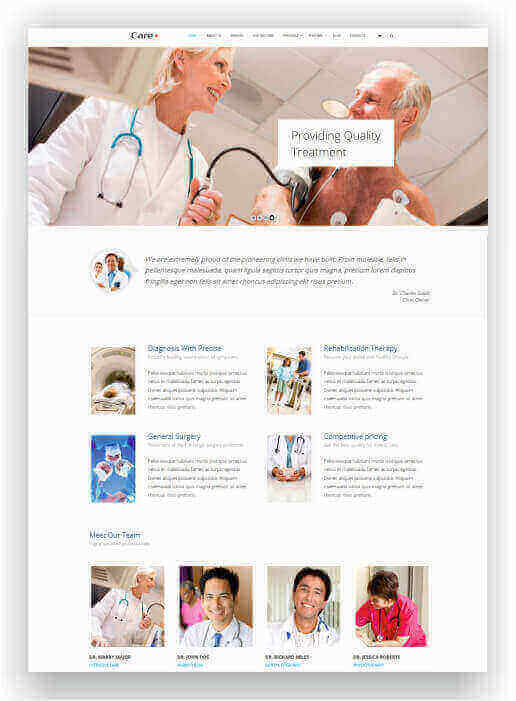 Wordpress Themes für Klinik