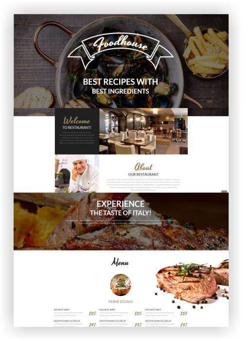 Wordpress Thema für Restaurant