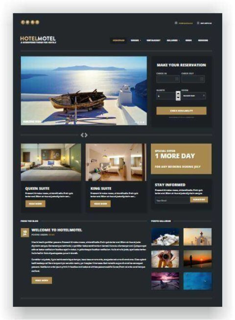 Responsives WordPress Hotel Thema