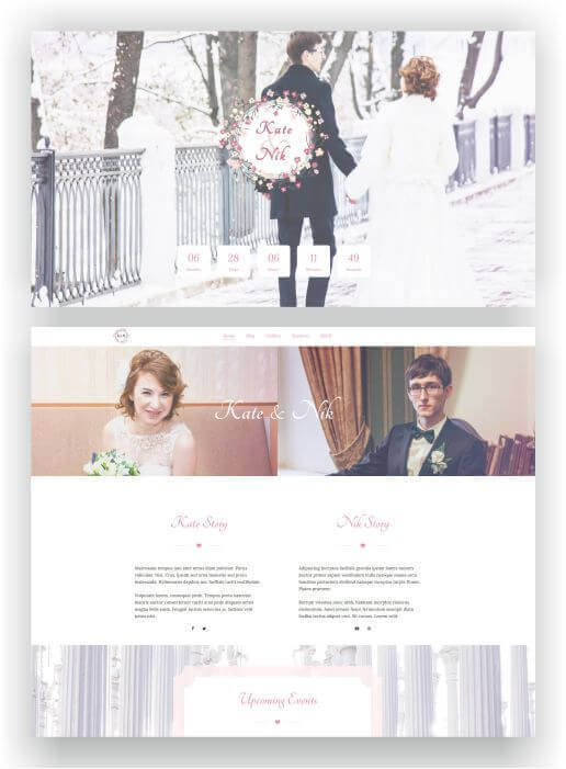 Wedding website with WordPress