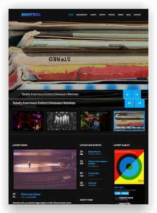 Wordpress Theme Klassic Music