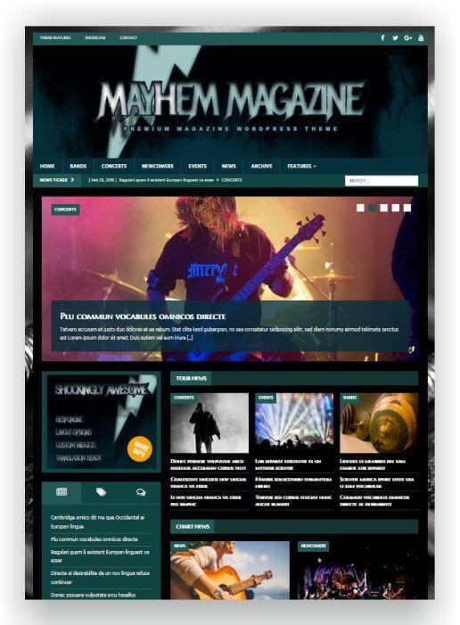 Wordpress Musik Magazin