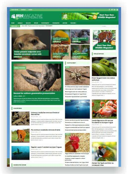 WordPress Magazine Wildlife