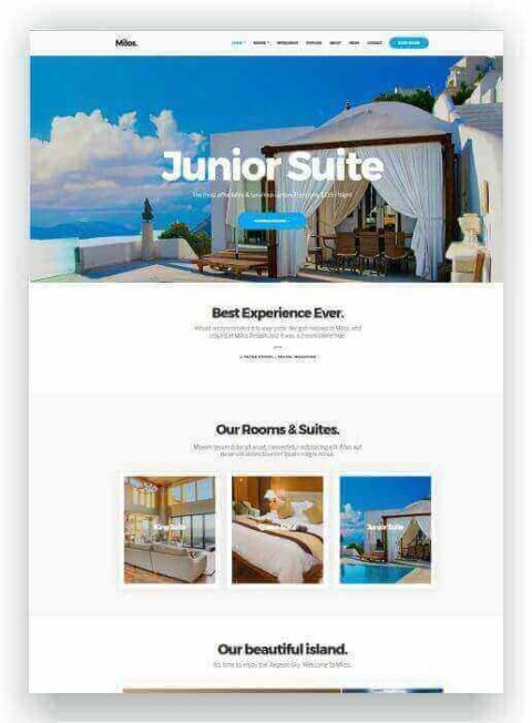 WordPress Template für Hotel
