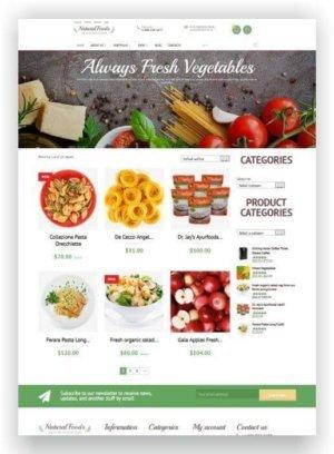 WooCommerce Lebensmittel Shop Thema