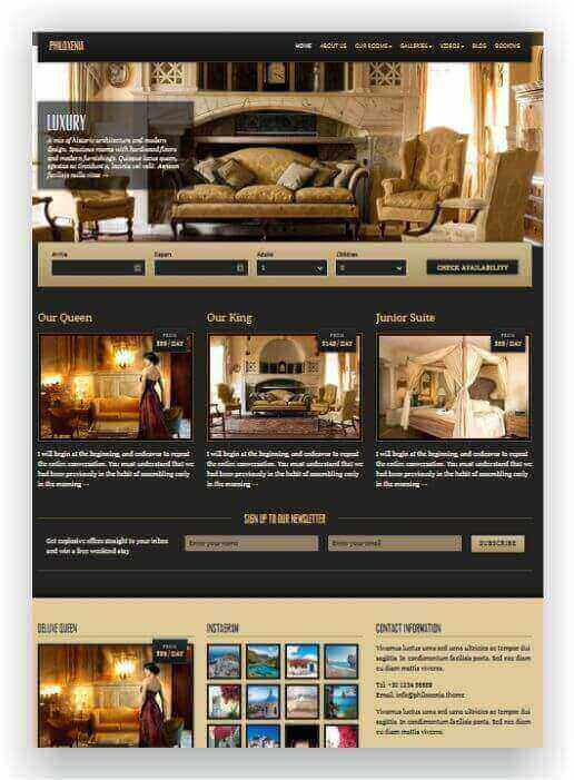 WordPress Luxury Hotel Theme