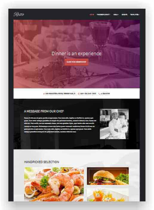 Wordpress Theme for restaurant