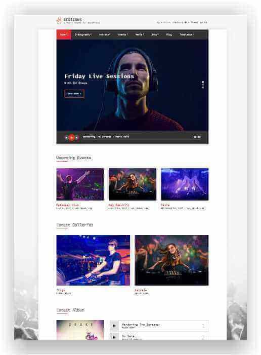 Website for solo artist