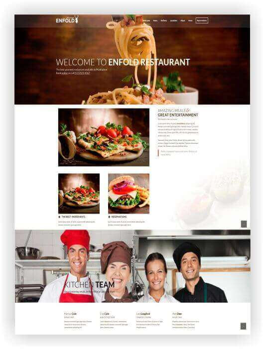 Wordpress Theme for Cafe