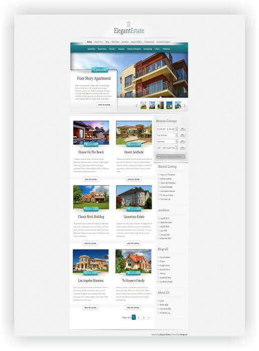 Immobilien Theme by elegantthemes