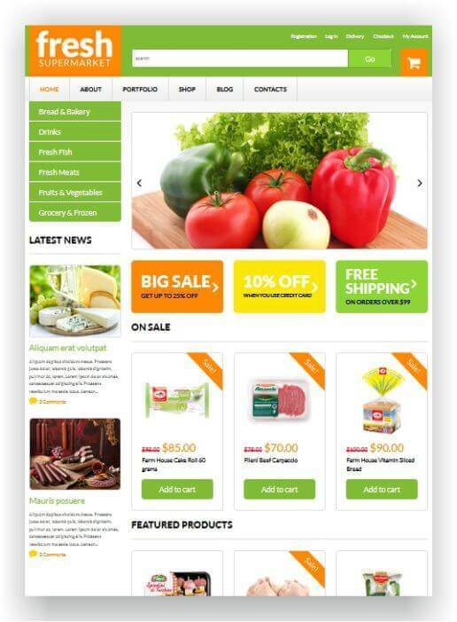 Lebensmittel Online Shop