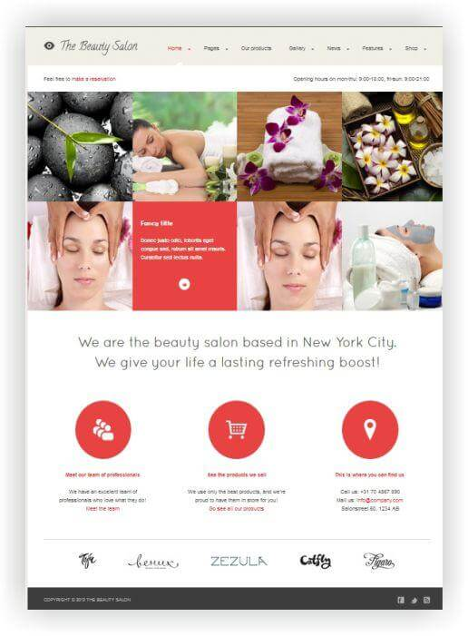 Wordpress Theme für Beauty Salon