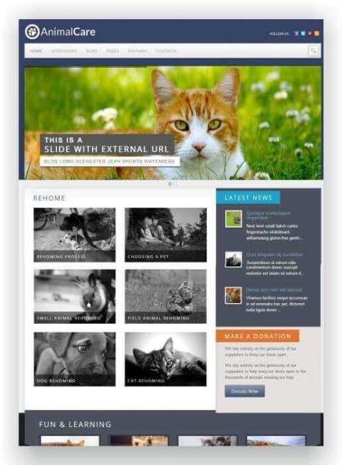 WordPress Tierschutz Blog Thema
