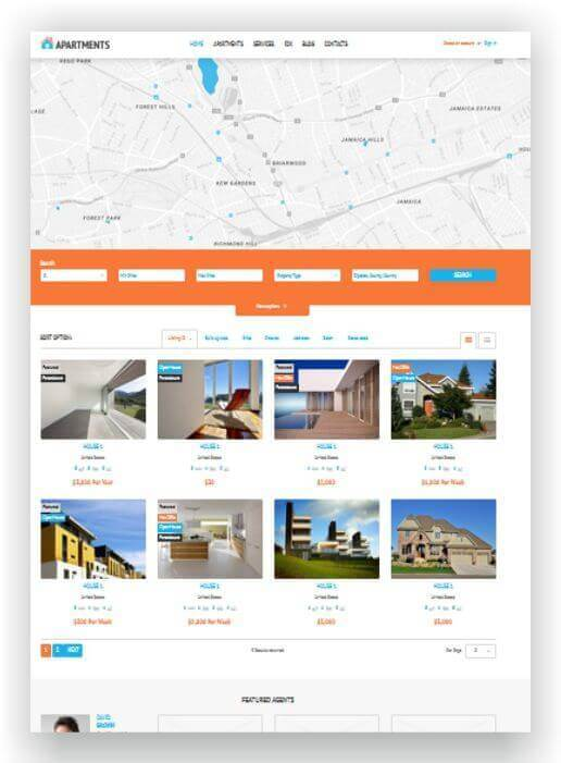 Wordpress Theme mit Map