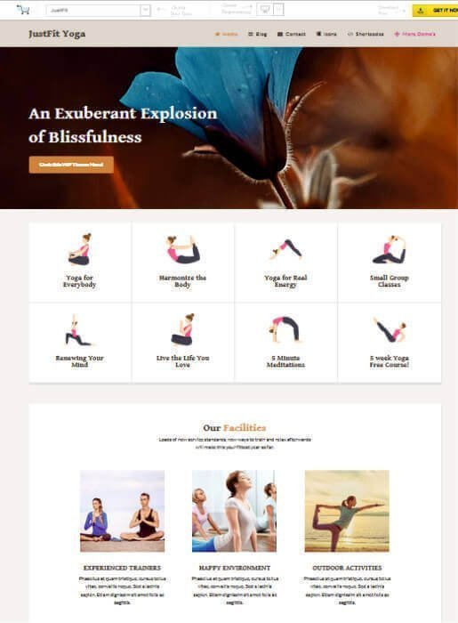 Wordpress Thema für Yoga