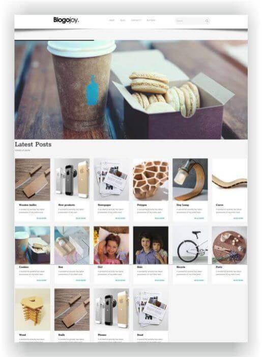 Blog WordPress para nutrição