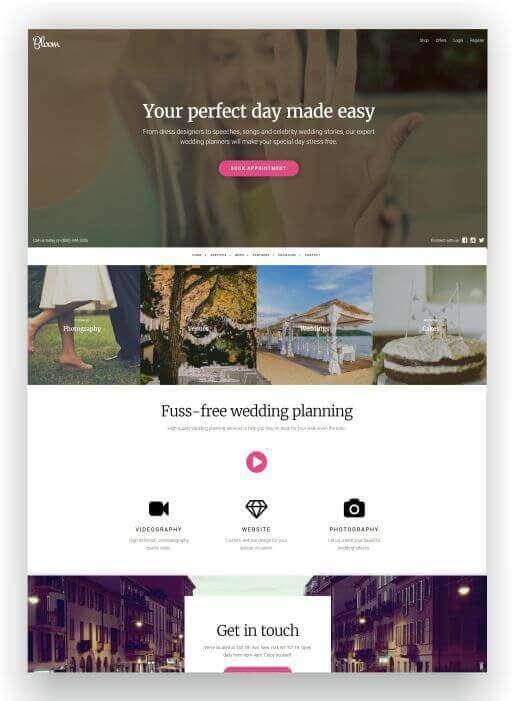 Crear una sitio web para boda con WordPress - descargar aquí gratis!
