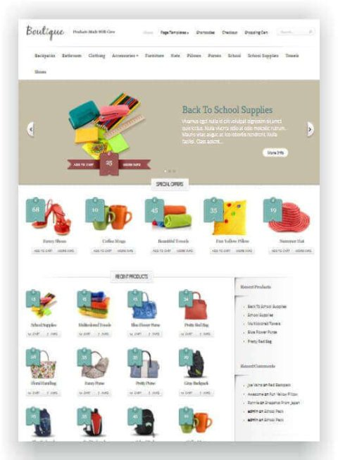 WooCommerce Shop Thema