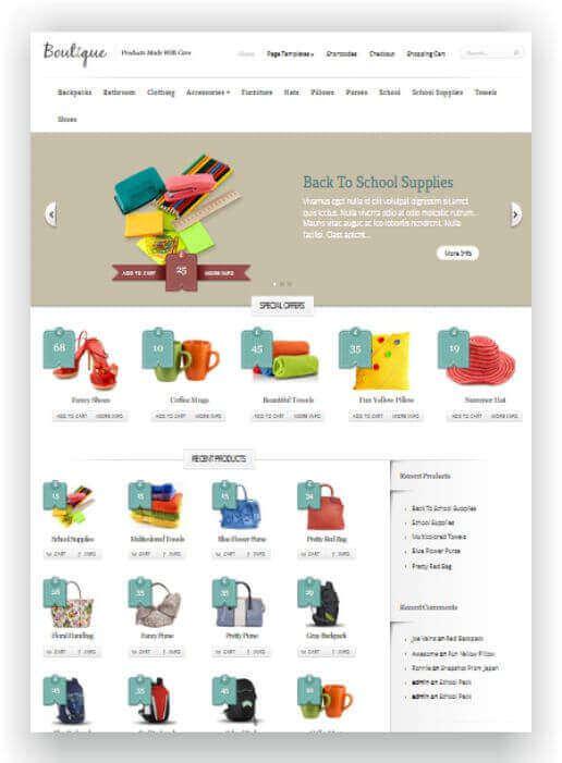 Wordpress Tema para Woocommerce -su éxito con la tienda online!
