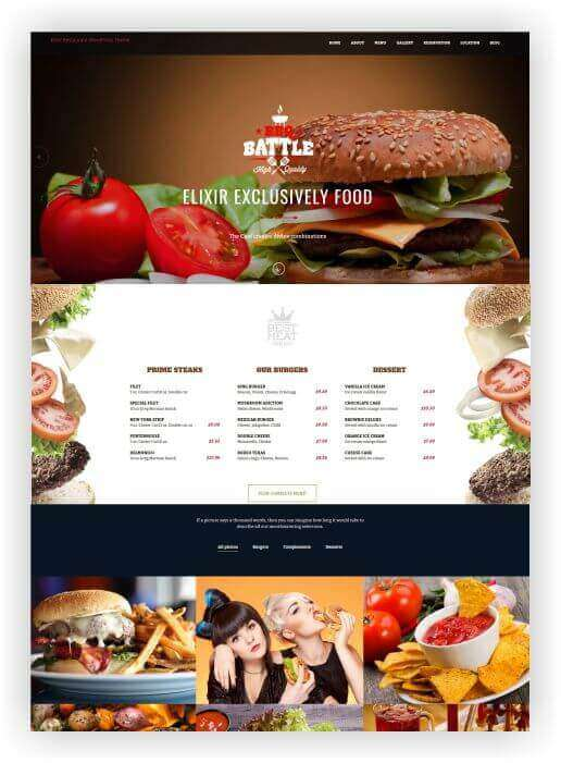 Wordpress Theme for BBQ Restaurant