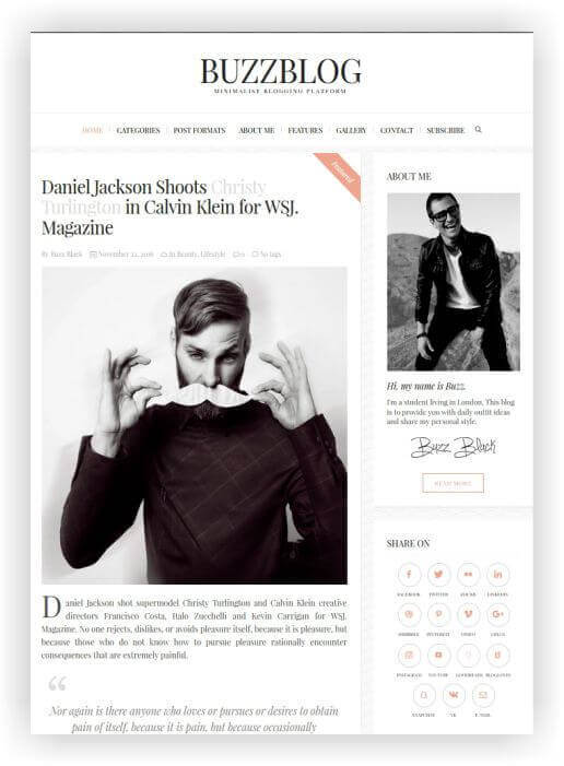 Einfaches WordPress Blog Thema