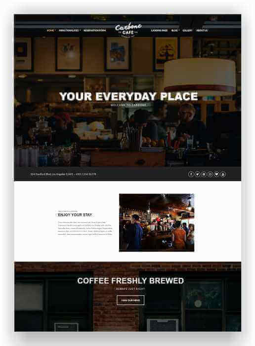 WordPress Theme for Specialty Restaurant