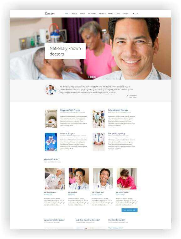 Wordpress Theme for Medical