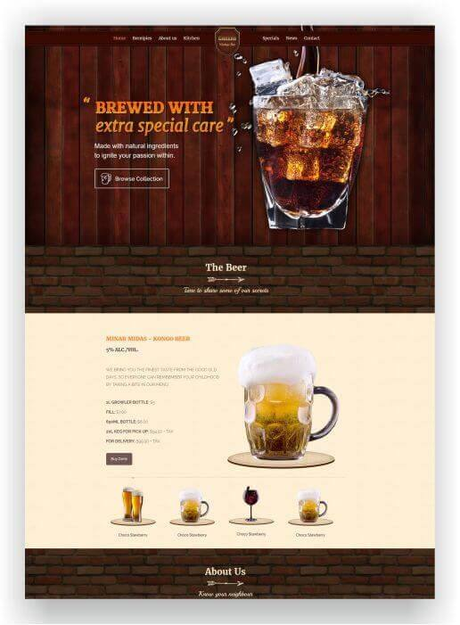 Wordpress Theme for bar