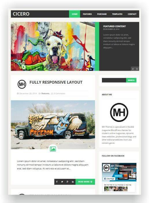 Wordpress Theme for Magazine