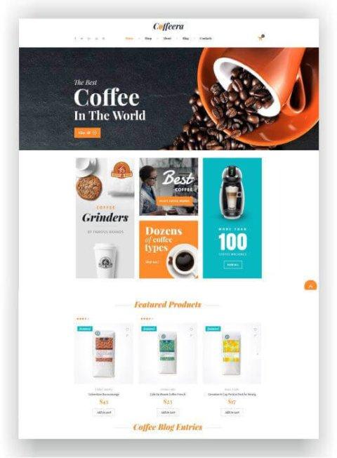 WooCommerce Cafe Shop