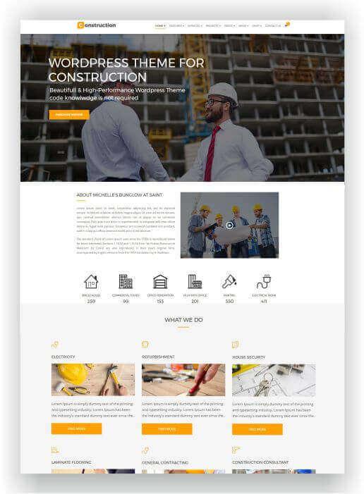 Wordpress empresa de construção