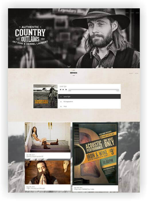 Wordpress Theme für Country