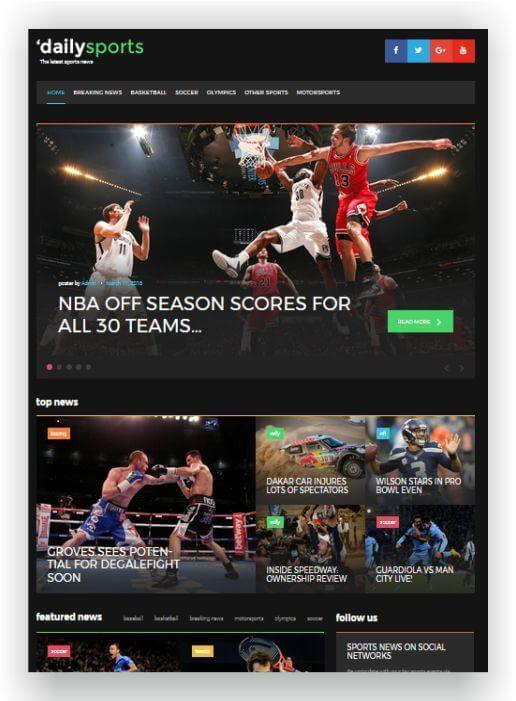 Webseite für Sportnews