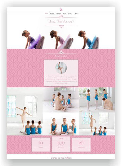 Wordpress Thema für Ballett Schule