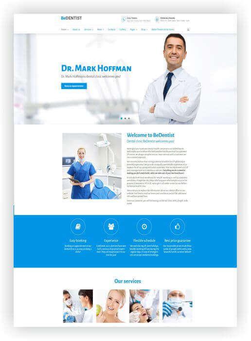 Wordpress Themes für Dentist
