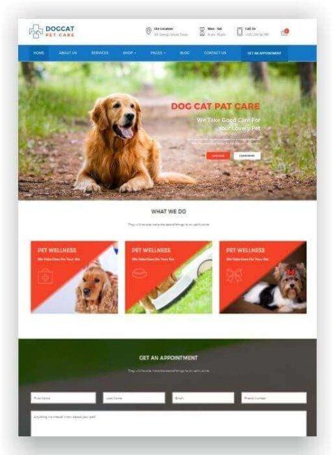 WordPress Tierarzt Vorlage