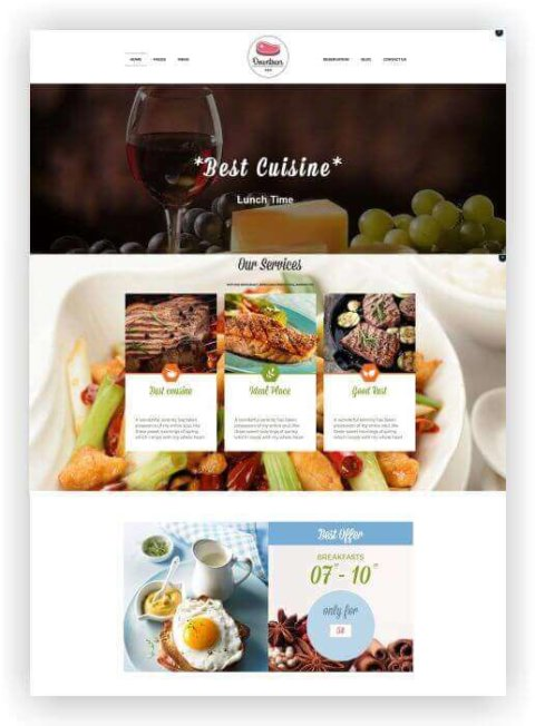 WordPress Restaurant Webseite