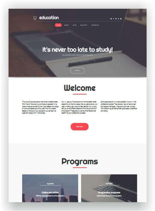 Wordpresstheme for school, education and study