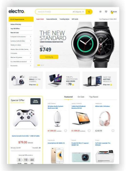 WooCommerce Elektronik Shop