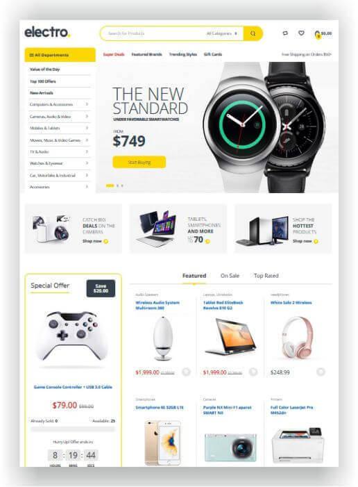 WooCommerce Electronic Shop