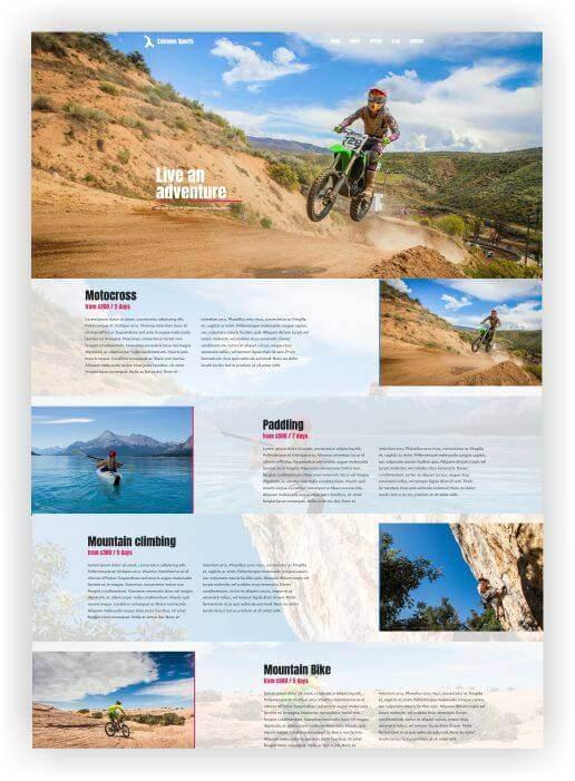 Wordpress Webseite für Extremsport