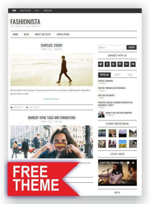 Gratis WordPress Fashion Blog
