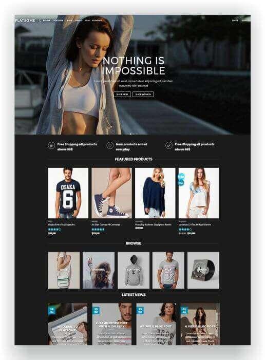 WordPress für Sportshop