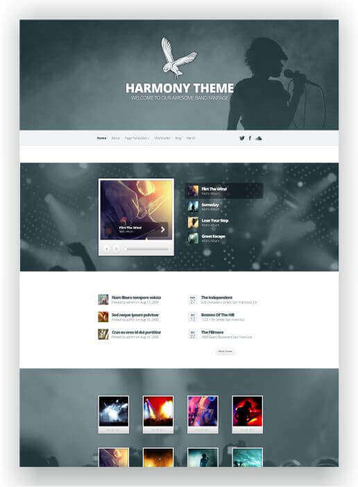 Wordpress Theme für Bands