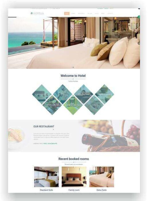 Create a website for a hotel