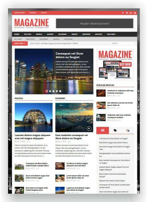 Wordpress Theme für Magazine MH Magazine