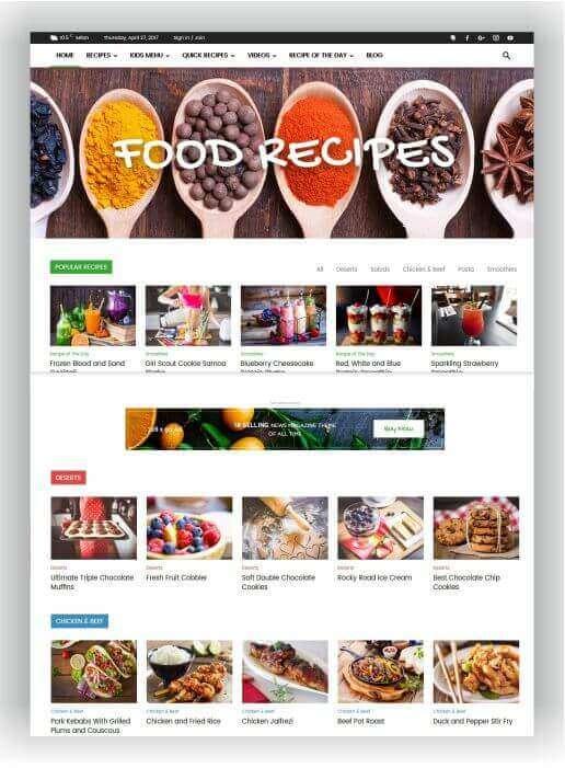 Wordpress Thema für Rezepte