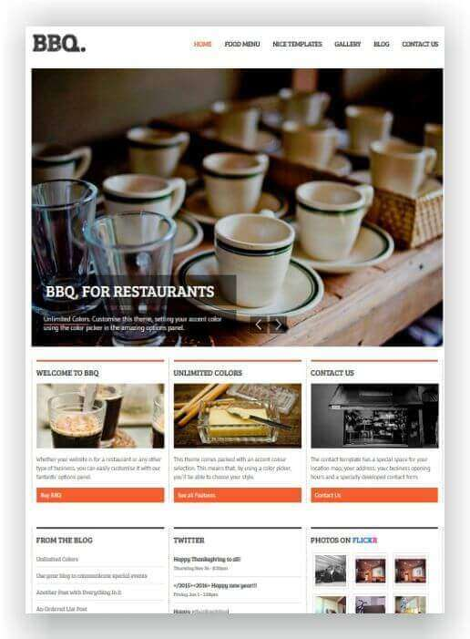 Wordpress themes for cooking blog